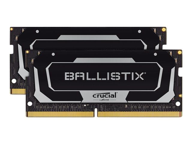 Ballistix – DDR4 – 16 GB: 2 x 8 GB – SO DIMM 260-pin – 2666 MHz / PC4-21300 – CL16 – 1.2 V – senza buffer – non ECC – nero [ TT802455 ]