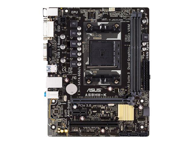 ASUS A68HM-K – Scheda madre – micro ATX – Socket FM2+ – AMD A68H – USB 3.0 – Gigabit LAN – scheda grafica (richiesta CPU) – HD Audio (8 canali) [ TT138516 ]