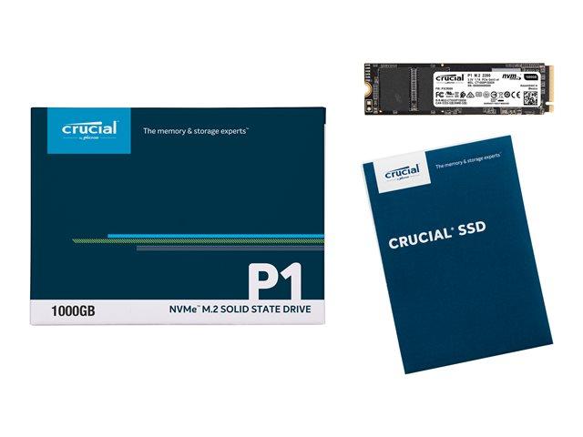 Crucial P1 – SSD – 1 TB – interno – M.2 2280 – PCI Express 3.0 x4 (NVMe) [ TT801729 ]