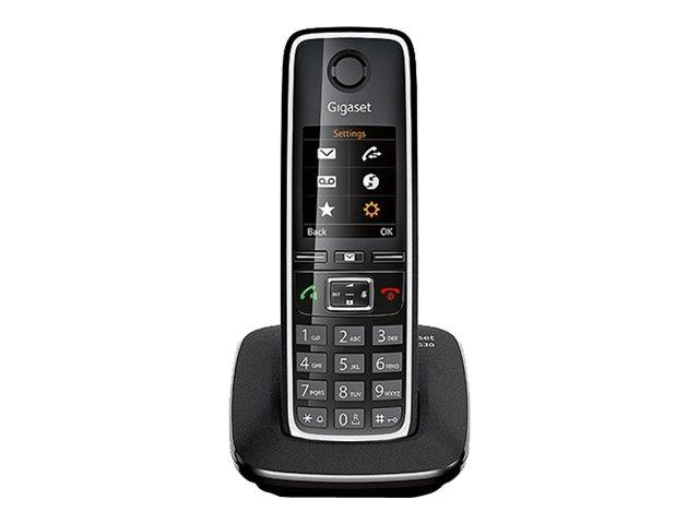 Gigaset C530 – Telefono cordless con ID chiamante – DECTGAP – nero, argento [ TT227316 ]