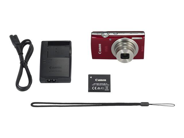 Canon IXUS 185 – Fotocamera digitale – compatta – 20.0 MP – 720p / 25 fps – 8zoom ottico x – rosso [ TT225160 ]