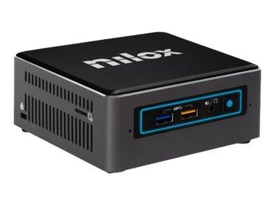 Nilox I3NXNUC4GB240WE – PC mini – 1 x Core i3 8100 / 3.6 GHz – RAM 4 GB – SSD 240 GB – UHD Graphics 630 – GigE – WLAN: Bluetooth, 802.11ac – Windows 10 Enterprise -monitor: nessuno [ TT792030 ]