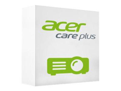 Acer Care Plus On-Site Exchange – Contratto di assistenza esteso – sostituzione – 3 anni – spedizione – 9×5 – tempo di risposta: NBD – da acquistare entro 365 giorni dall'acquisto del prodotto – con Garanzia lampada di 3 anni – per Acer P1285, P1385, P1502, P1525, P1623, P5627, P6200, P6500, P6600, U5220, U5320, U5520 [ TT229242 ]