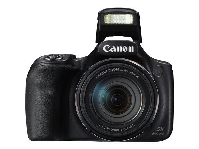 Canon PowerShot SX540 HS – Fotocamera digitale – compatta – 20.3 MP – 1080p / 60 fps – 50 zoom ottico x – Wi-Fi, NFC – nero [ TT150366 ]