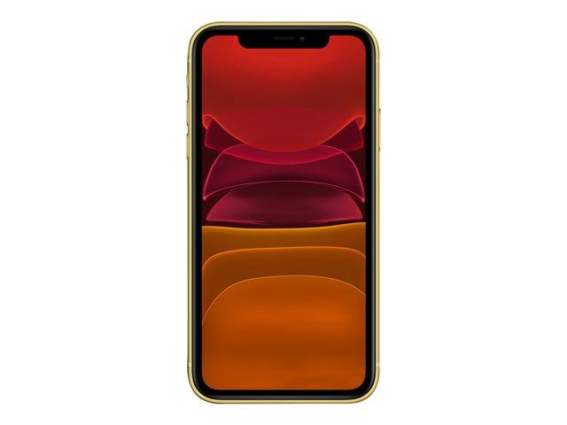 Apple iPhone 11 – Smartphone – dual SIM – 4G Gigabit Class LTE – 128 GB – GSM – 6.1″ – 1792 x 828 pixel (326 ppi) – Liquid Retina HD display (telecamera anteriore 12 MP) – 2x telecamere posteriori – giallo [ TT795465 ]