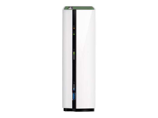 QNAP TS-128A – Dispositivo di storage personal cloud – 1 alloggiamenti – SATA 6Gb/s – RAM 1 GB – Gigabit Ethernet – iSCSI [ TT691268 ]