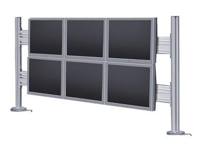 NewStar Desk Mount Toolbar FPMA-DTB200 – Componente di montaggio (da tavolo) per 6 schermi LCD – argento – dimensione schermo: 10″-24″ – interfaccia montaggio: 75 x 75 mm [ TT158017 ]