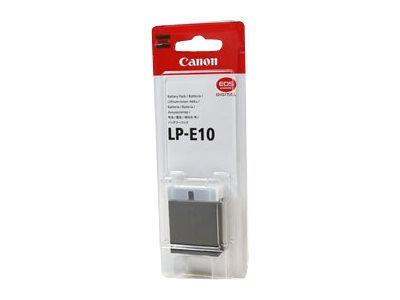 Canon LP-E10 – Batteria fotocamera Li-Ion – per EOS 1100D, 1200D, 1300D, Kiss X50, Kiss X70, Kiss X80, Rebel T3, Rebel T5, Rebel T6 [ TT225374 ]