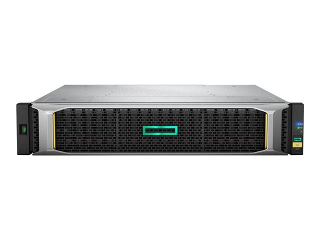 HPE Modular Smart Array 2052 SAN Dual Controller SFF Storage – Serie stato solido / hard drive – 76.8 TB – 24 alloggiamenti (SAS-2) – SSD 800 GB x 2 – montabile in rack – 2U [ TT553501 ]