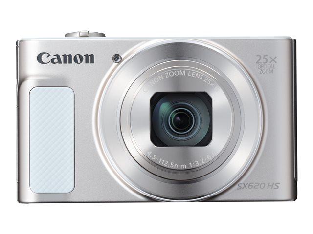 Canon PowerShot SX620 HS – Fotocamera digitale – compatta – 20.2 MP – 1080p / 30 fps – 25 zoom ottico x – Wi-Fi, NFC – argento [ TT150198 ]