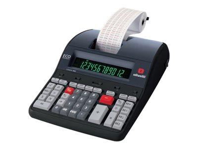 Olivetti Logos 902 – Calcolatrice scrivente con stampa – LCD – 12 cifre – adattatore CA [ TT227139 ]