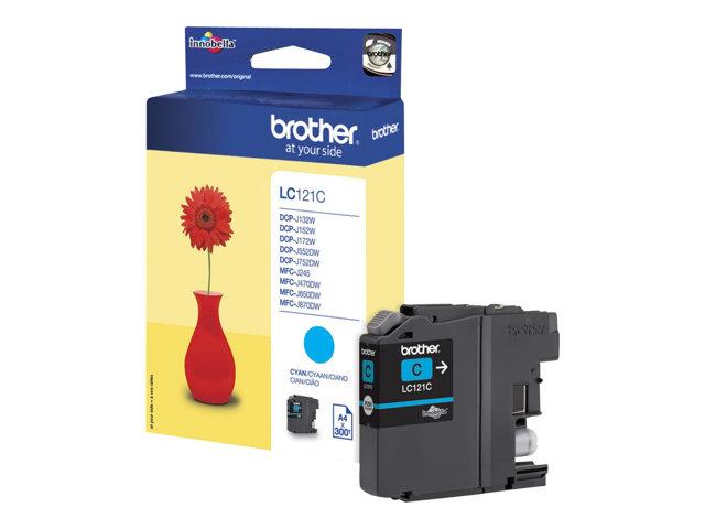 Brother LC121C – Cyan – originale – cartuccia d'inchiostro – per Brother DCP-J100, J105, J132, J152, J552, J752, MFC-J245, J470, J650, J870 [ TT134595 ]