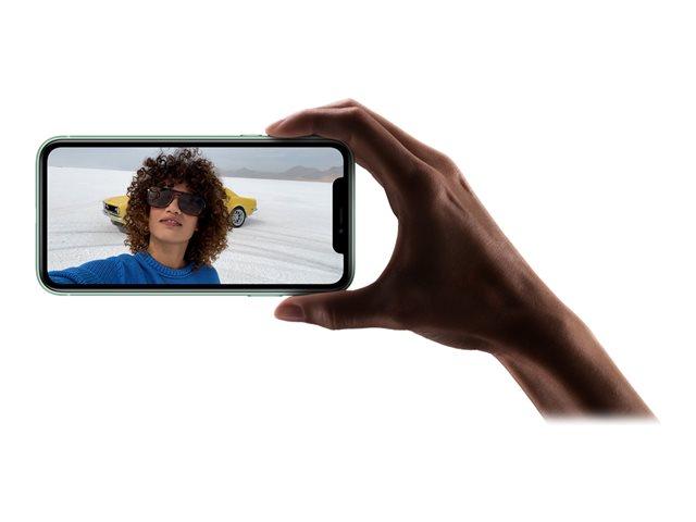 Apple iPhone 11 – Smartphone – dual SIM – 4G Gigabit Class LTE – 128 GB – GSM – 6.1″ – 1792 x 828 pixel (326 ppi) – Liquid Retina HD display (telecamera anteriore 12 MP) – 2x telecamere posteriori – verde [ TT795467 ]