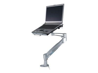 NewStar Desk Mount (clamp) for Laptop (Full Motion Gas Spring) NOTEBOOK-D200 – Kit montaggio (cassetto, braccio snodato, morsetto per montaggio su scrivania, montatura con anello di tenuta) per portatile – argento – dimensione schermo: 10″-22″ [ TT158124 ]