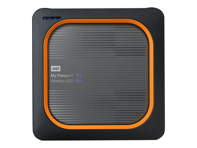 WD My Passport Wireless SSD WDBAMJ0010BGY – Unità di rete – 1 TB – SSD 1 TB x 1 – USB 3.0 / 802.11ac [ TT691275 ]