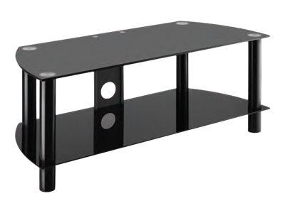 Meliconi Flat Vision Line 200 NEW – Supporto per plasma / LCD / TV – vetro temperato – nero – a pavimento [ TT157751 ]