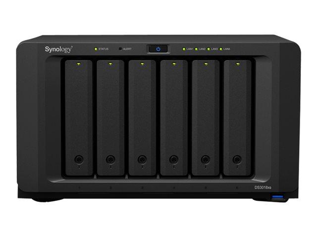Synology Disk Station DS3018xs – Server NAS – 6 alloggiamenti – SATA 6Gb/s – RAID 0, 1, 5, 6, 10, JBOD, RAID F1 – RAM 8 GB – Gigabit Ethernet – iSCSI [ TT685672 ]