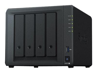 Synology Disk Station DS918+ – Server NAS – 4 alloggiamenti – SATA 6Gb/s / eSATA – RAID 0, 1, 5, 6, 10, JBOD – RAM 4 GB – Gigabit Ethernet – iSCSI [ TT685678 ]