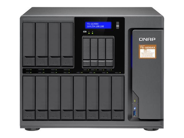 QNAP TS-1635AX – Server NAS – 16 alloggiamenti – SATA 6Gb/s – RAID 0, 1, 5, 6, 10, 50, JBOD, 60 – RAM 8 GB – Gigabit Ethernet / 10 Gigabit Ethernet – iSCSI [ TT722258 ]