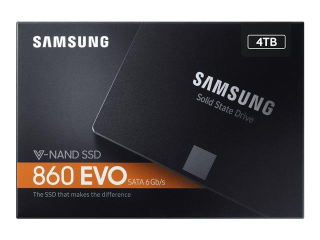 Samsung 860 EVO MZ-76E4T0B – SSD – crittografato – 4 TB – interno – 2.5″ – SATA 6Gb/s – buffer: 4 GB – 256 bit AES – TCG Opal Encryption 2.0 [ TT690645 ]