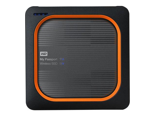 WD My Passport Wireless SSD WDBAMJ0020BGY – Unità di rete – 2 TB – SSD 2 TB x 1 – USB 3.0 / 802.11ac [ TT707508 ]