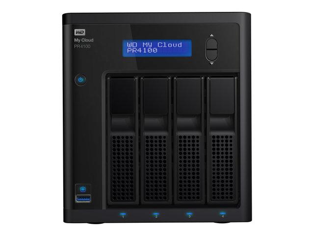 WD My Cloud PR4100 WDBNFA0400KBK – Server NAS – 4 alloggiamenti – 40 TB – HDD 10 TB x 4 – RAID 0, 1, 5, 10, JBOD – RAM 4 GB – Gigabit Ethernet [ TT722235 ]