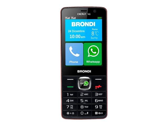 Brondi Energy 4G – Smartphone – dual SIM – 4G – GSM – 3″ – 240 x 320 pixel – 5 MP (fotocamera anteriore 2 MP) – Android – nero [ TT797234 ]