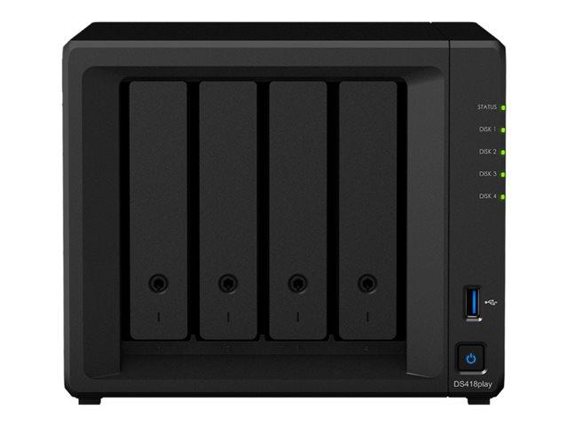 Synology Disk Station DS418Play – Server NAS – 4 alloggiamenti – RAID 0, 1, 5, 6, 10, JBOD – RAM 2 GB – Gigabit Ethernet – iSCSI [ TT685675 ]
