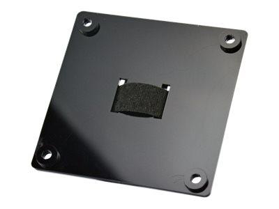 Hannspree – Kit montaggio (staffa di montaggio VESA) per monitor / mini PC – metallo – dimensione schermo: 18.5″-27″ – interfaccia montaggio: 100 x 100 mm – montabile su base [ TT711762 ]