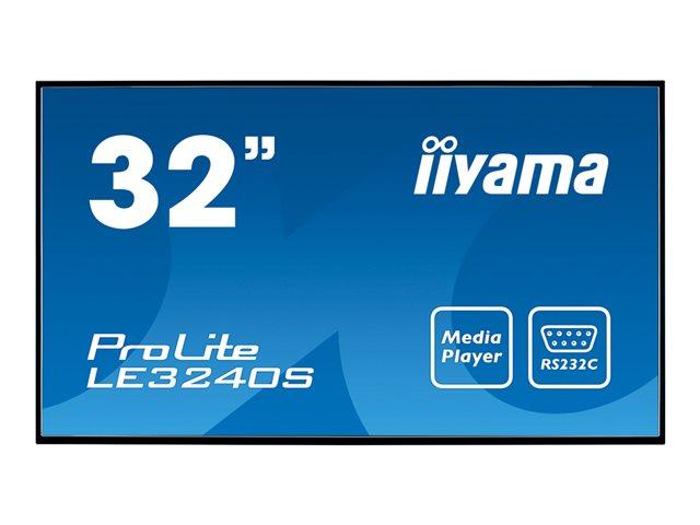 Iiyama ProLite LE3240S-B1 – 32″ Classe ( 31.5″ visualizzabile ) display LED – segnaletica digitale – 1080p (Full HD) – nero [ TT147206 ]