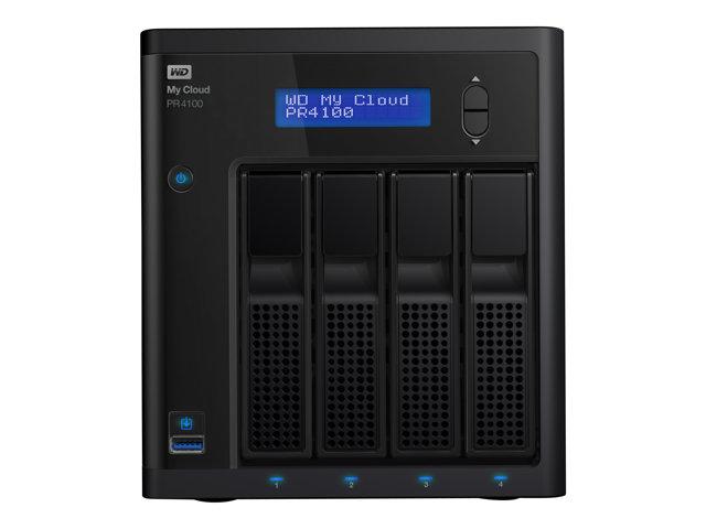 WD My Cloud PR4100 WDBNFA0160KBK – Server NAS – 4 alloggiamenti – 16 TB – HDD 4 TB x 4 – RAID 0, 1, 5, 10, JBOD – Gigabit Ethernet [ TT189793 ]