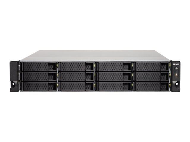 QNAP TS-1263XU-RP – Server NAS – 12 alloggiamenti – montabile in rack – SATA 6Gb/s – RAID 0, 1, 5, 6, 10, JBOD, sostituzione a caldo, hot spare 6, hot spare 10 – RAM 4 GB – Gigabit Ethernet / 10 Gigabit Ethernet – iSCSI – 2U [ TT707533 ]