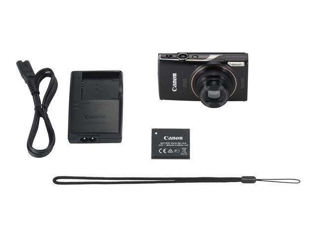 Canon IXUS 285 HS – Fotocamera digitale – compatta – 20.2 MP – 1080p / 30 fps – 12 zoom ottico x – Wi-Fi, NFC – nero [ TT150373 ]