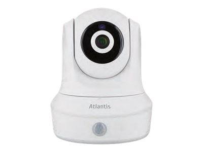 Atlantis Land +CAM HD 7500 PC7500-MT2 – Telecamera di sorveglianza connessa in rete – panoramica / inclinazione – colore (Giorno e notte) – 2 MP – 1920 x 1080 – focale fisso – audio – wireless – Wi-Fi – LAN 10/100 – H.264 – DC 12 V [ TT721372 ]