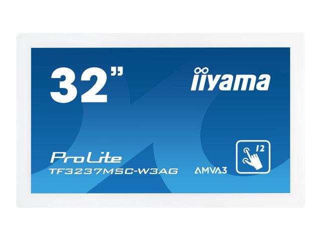 Monitor interattivo Iiyama ProLite TF3237MSC-W3AG – 32″ Classe (31.5″ visualizzabile) display LED – segnaletica digitale – con schermo tattile – 1080p (Full HD) 1920 x 1080 – edge-lit – bianco [ TT688321 ]