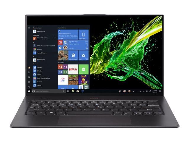 Acer Swift 7 SF714-52T-7537 – Core i7 8500Y / 1.5 GHz – Win 10 Pro Edizione a 64 bit – 16 GB RAM – 512 GB SSD – 14″ IPS touchscreen 1920 x 1080 (Full HD) – UHD Graphics 615 – Bluetooth, Wi-Fi – nero starfield – tast: italiana [ TT796005 ]