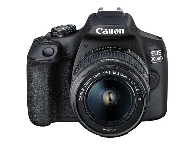 Canon EOS 2000D – Fotocamera digitale – SLR – 24.1 MP – APS-C – 1080p / 30 fps – 3zoom ottico x lente EF-S 18-55mm IS II – Wi-Fi, NFC [ TT707742 ]