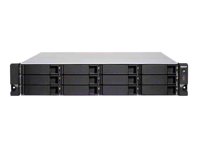 QNAP TS-1283XU-RP – Server NAS – 12 alloggiamenti – montabile in rack – SATA 6Gb/s – RAID 0, 1, 5, 6, 10, 50, JBOD, 60 – RAM 8 GB – Gigabit Ethernet / 10Gbps SFP+ – iSCSI – 2U [ TT788621 ]