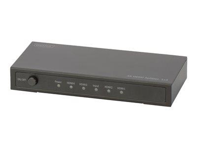 DIGITUS DS-47304 – Splitter video/audio – 4 x HDMI – desktop [ TT711590 ]