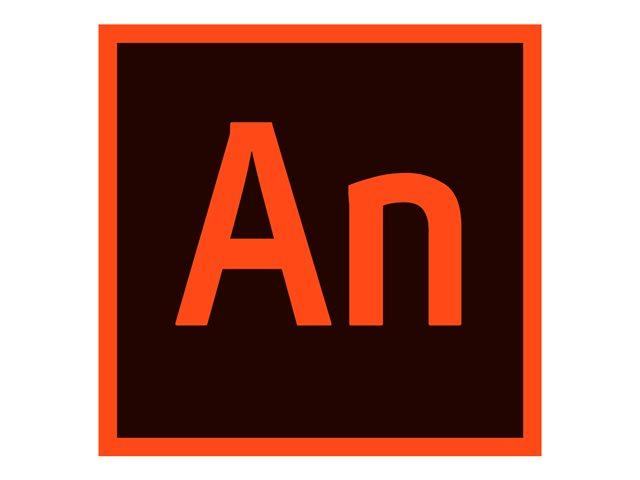 Adobe Animate CC for teams – Nuova Sottoscrizione Licenza Team (Mensile) – 1 utente – Value Incentive Plan – Livello 2 (10-49) – Win, Mac – EU English [ TT726402 ]