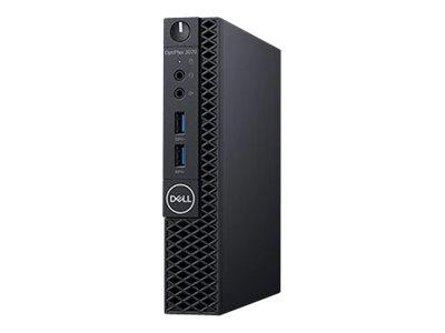 Dell OptiPlex 3070 – Micro – 1 x Core i3 9100T / 3.1 GHz – RAM 8 GB – SSD 256 GB – UHD Graphics 630 – GigE – WLAN: 802.11a/b/g/n/ac, Bluetooth 4.1 – Win 10 Pro Edizione a 64 bit -monitor: nessuno – BTS – con 1 anno di base in sede [ TT792989 ]
