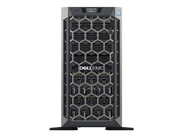Dell EMC PowerEdge T640 – Server – tower – 5U – a 2 vie – 1 x Xeon Silver 4214 / 2.2 GHz – RAM 16 GB – SAS – hot-swap 2.5″ – SSD 240 GB – masterizzatore DVD – GigE, 10 GigE – senza SO -monitor: nessuno – BTP – con 3 Anni Basic Onsite [ TT794214 ]