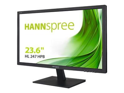 HANNS.G – HL Series – monitor a LED – 23.6″ (23.6″ visualizzabile) – 1920 x 1080 Full HD (1080p) – 250 cd/m² – 1000:1 – 5 ms – HDMI, DVI-D, VGA – altoparlanti – nero (parte posteriore schermo) [ TT794511 ]