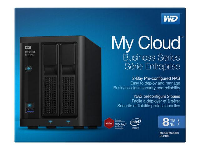 WD My Cloud PR2100 WDBBCL0080JBK – Server NAS – 2 alloggiamenti – 8 TB – HDD 4 TB x 2 – RAID 0, 1, JBOD – Gigabit Ethernet [ TT189784 ]