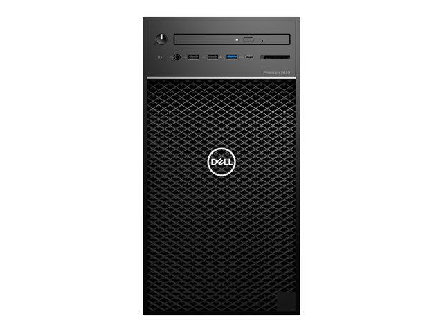 Dell Precision 3630 Tower – MT – 1 x Core i5 9500 / 3 GHz – RAM 8 GB – SSD 256 GB – masterizzatore DVD – Radeon Pro WX 2100 – GigE – Win 10 Pro Edizione a 64 bit – vPro -monitor: nessuno – BTP – con 3 Anni Basic Onsite [ TT794368 ]