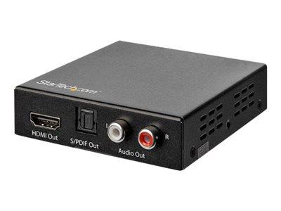 StarTech.com Estrattore Audio HDMI 4K con Supporto 4K 60Hz – De-embedder Audio HDMI HDR con Cavo Ottico Toslink – Estrattore di segnale audio HDMI – nero [ TT799936 ]