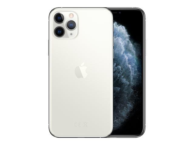 Apple iPhone 11 Pro – Smartphone – dual SIM – 4G Gigabit Class LTE – 256 GB – GSM – 5.8″ – 2436 x 1125 pixel (458 ppi) – Super Retina XDR Display (telecamera anteriore 12 MP) – 3 x telecamere posteriori – argento [ TT795475 ]