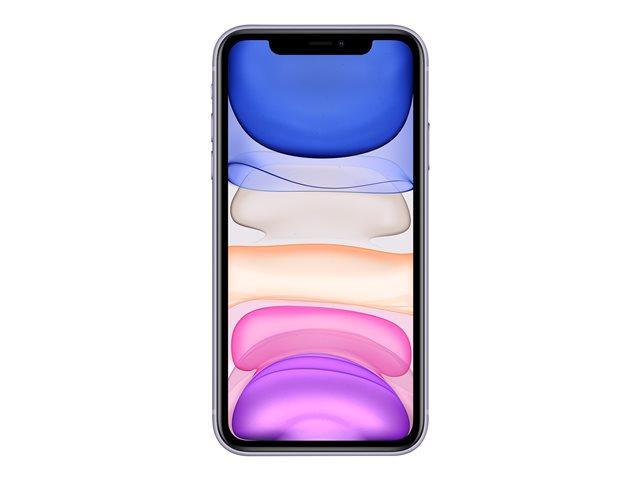 Apple iPhone 11 – Smartphone – dual SIM – 4G Gigabit Class LTE – 64 GB – GSM – 6.1″ – 1792 x 828 pixel (326 ppi) – Liquid Retina HD display (telecamera anteriore 12 MP) – 2x telecamere posteriori – viola [ TT795457 ]