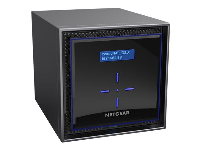 NETGEAR ReadyNAS 424 – Server NAS – 4 alloggiamenti – 8 TB – HDD 2 TB x 4 – RAID 0, 1, 5, 6, 10, JBOD – RAM 2 GB – Gigabit Ethernet – iSCSI [ TT548393 ]