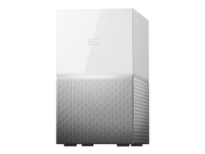 WD My Cloud Home Duo WDBMUT0160JWT – Dispositivo di storage personal cloud – 16 TB – HDD 8 TB x 2 – Gigabit Ethernet [ TT683598 ]